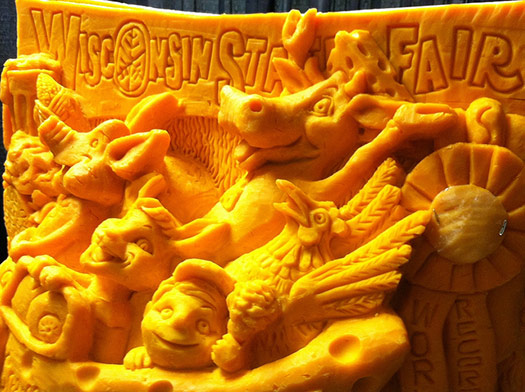 Wisconsin State Fair Cheese carving