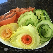 simple vegetable garnishes - vegetable flowers