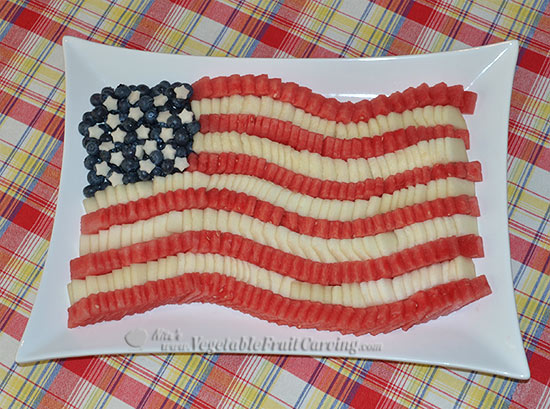American flag fruit tray by Nita Gill