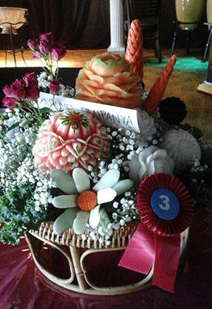 Thai style carving competition Tym 3rd place