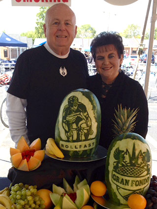 logo carved watermelons - Jim Tanner