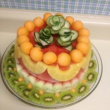 cake made from fresh watermelon by Christelle