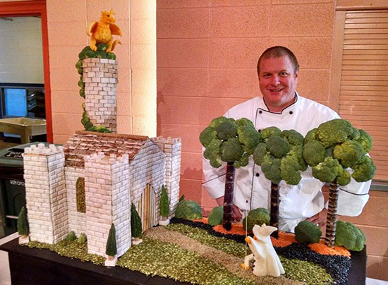 Dean Murray Ohio State Fair fruit carving competition entry