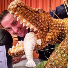 Shannann Gerasimchick with his pineapple crocodile