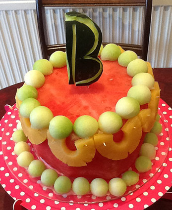 Simple cake from fresh watermelon by Bharti