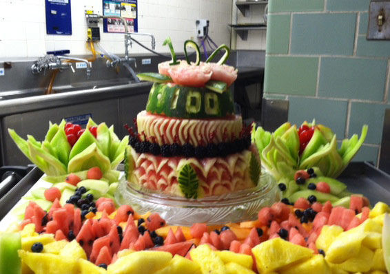 fresh watermelon cake by Susan Belden