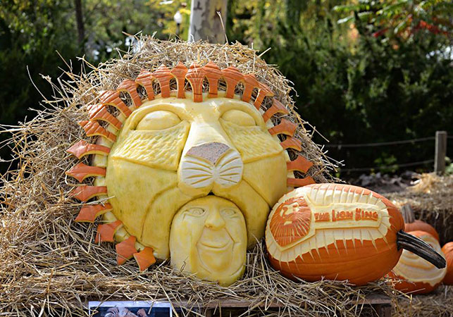 Lion King pumpkin sculpture by Greg Butauski