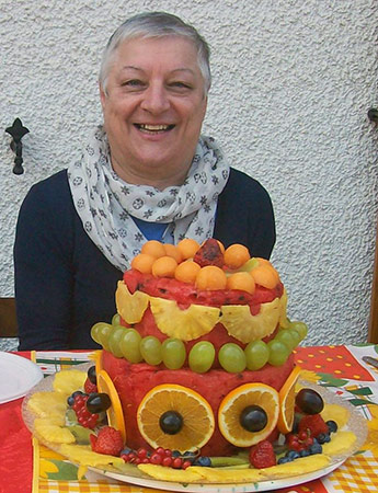 Cake made of fresh watermelon by Mirella Anceschi