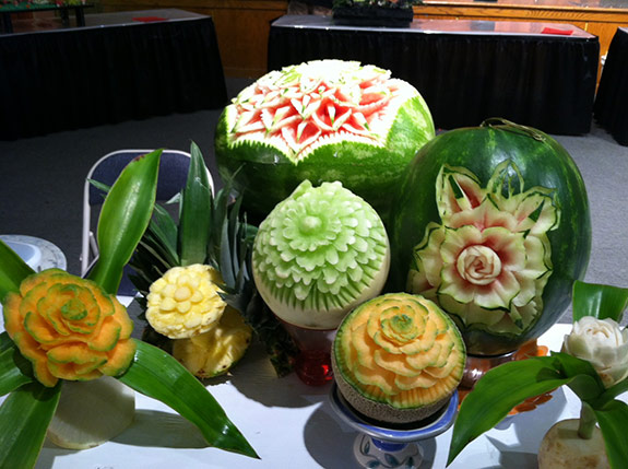 Trang Pham's 2nd prize winning entry in the amateur division at the Ohio State Fair  Fruit Caring Competition