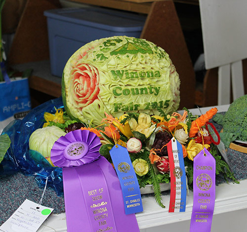 Josephine Schloegel's Winona County Fair carving competition winner