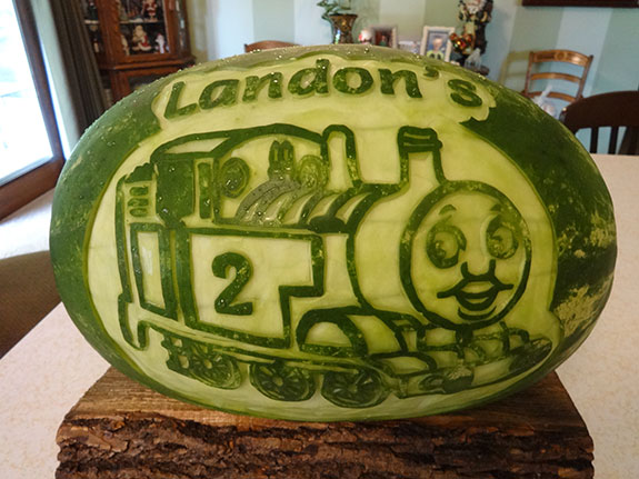 homas the Tank Engine watermelon carving