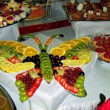 butterfly fruit tray idea
