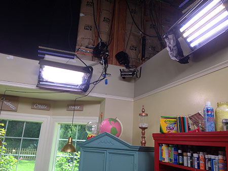 lighting in the Home & FAmily set