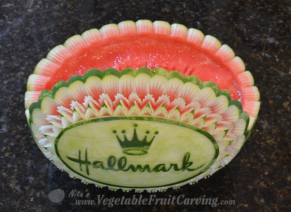 top view of Nita's Hallmark watermelon bowl