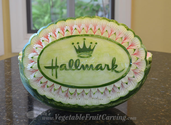 Nita's Hallmark watermelon basket for the Home and Family TV show