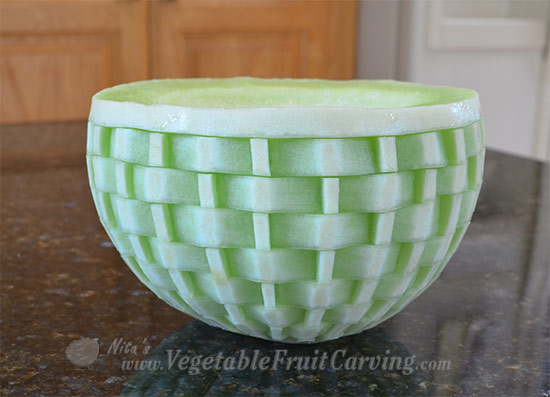 honeydew basket weave melon.