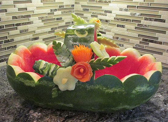 Kay Bullard's watermelon basket