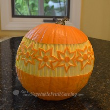 Pumpkin pattern star flower