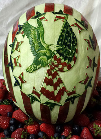 Rose Flores Star Spangled carving
