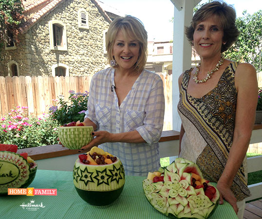 Cristina Ferrare with Nita Gill on Hallmark's Home and Family Show