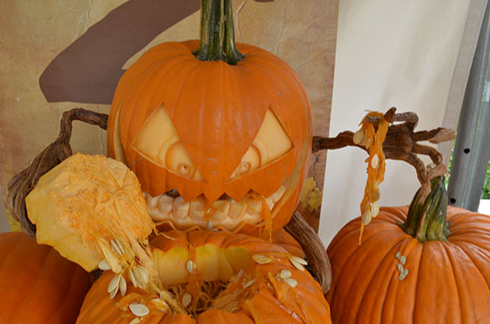 evil pumpkin eating brains Mike Brown