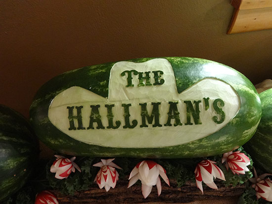 Cowboy hat with western font name, The Hallmans.