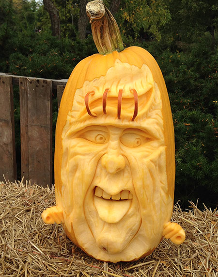 3D pumpkin face by Doug