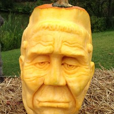 3d pumpkin face frankenstein