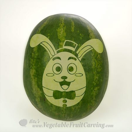 Easter bunny carving