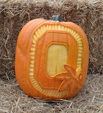 Greg Butauski's pumpkin carving was a favorite of Ohio State fans.