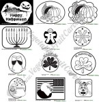 Holiday and seasonal carving patterns for pumpkins and watermelons