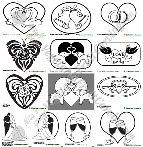Wedding Carving Patterns For Pumpkins And Watermelons