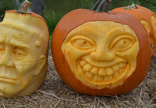 3D pumpkin face by Greg