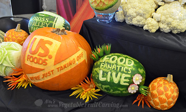 US Foods fruit carvings nita-gillby Nita Gill