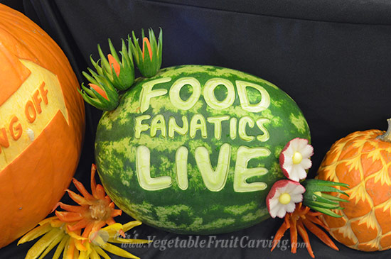 Food Fanatics Live watermleon carving