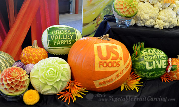fruit carvings by Nita Gill for US. Foods