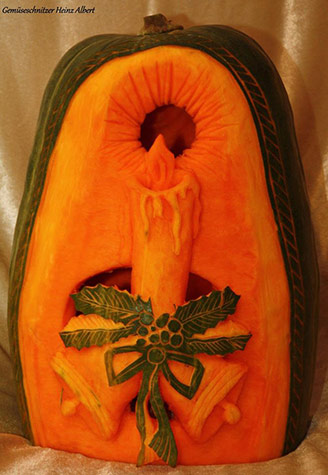 candle squash carving by Heinz albert