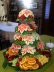 christmas-watermelon-poinsettia-tree