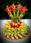 new year's fruit plate.