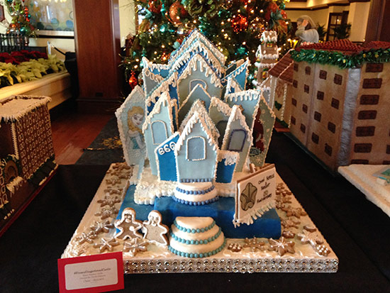 """Frozen"" gingerbread-house"