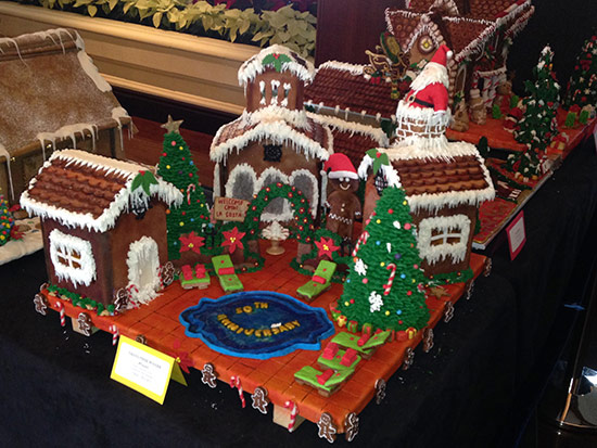 Gingerbread Houses created for La Costa REsort's 50th anniversary
