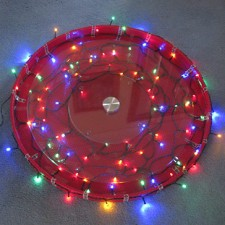 Lighted holiday dessert platter