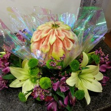 watermelon poinsettia centerpiece by Liana B