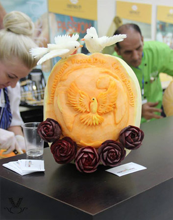 International Peace Day Championship carving of logo