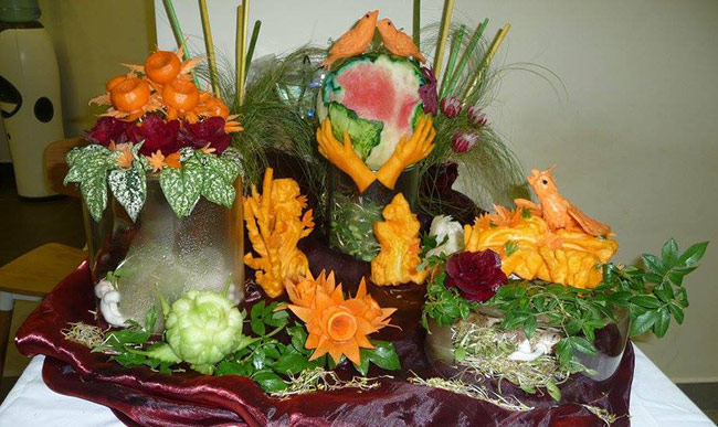 International peace day fruit carving competition