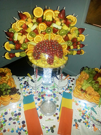 Mardi Gras Fruit Platter by Kentrina
