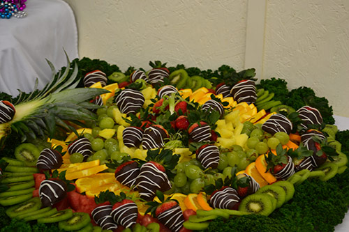 Mardi Gras fruit platter by Deborah Cheeseman