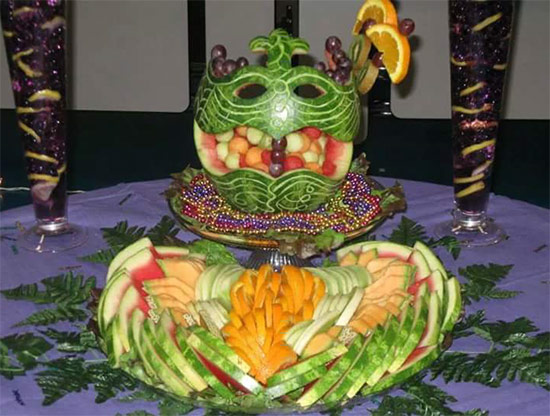 Mardi Gras watermelon mask by Kentrina