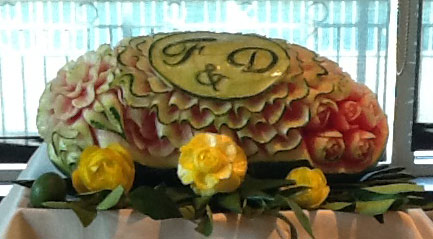 watermelon art for weddings
