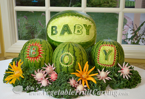 Baby shower fruit ideas nita s carving